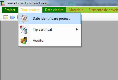 menu termoexpert software certificat energetic date identificare proiect